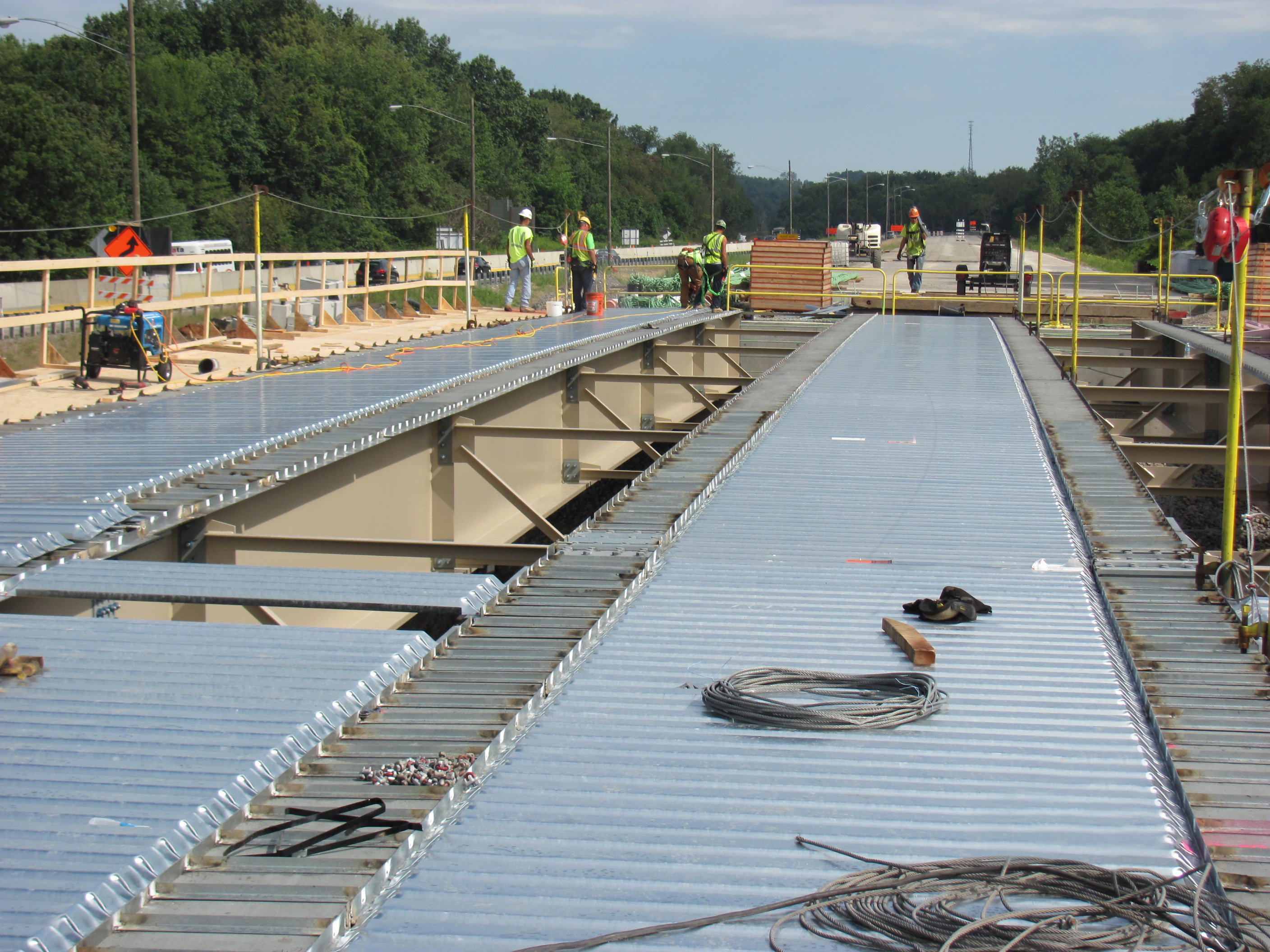 Permanent Corrugated Steel Bridge Deck Forms